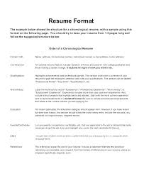 chronological resume template download format of chronological resume resume chronological order reverse