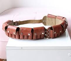 vintage leather ammo belt hunter s cartridge belt mens image 0