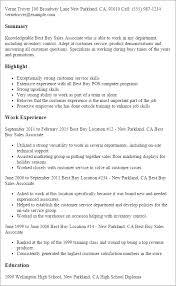 Best Buy Resume Descriptions