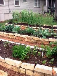 stepped garden beds