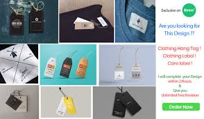 Design Clothing Label Hang Tags Care Instruction Within 2 Hours