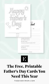 This year, i have created free printable cards that you can print. Free Printable Father S Day Cards The Everymom
