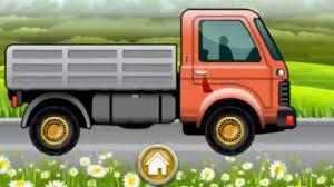 Hoạt hình cho bé, rửa xe và tân trang xe tải thùng, Big Trucks , Trucks -  Game 3D For Kid - YouTube