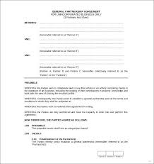 Printable Sample Partnership Agreement Template Form Free Small ...