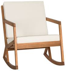 white outdoor rocking chair. Home Interior: Exploit Safavieh Outdoor Furniture Carson Teak Look 4 Piece Patio Conversation Set From White Rocking Chair H