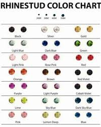 Rhinestud Color Chart For Bling Koozies Koozie Prices