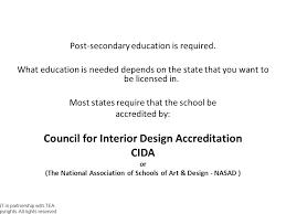 Cida Accredited Interior Design Schools Fascinating Interior Design License Requirements Ppt Video Online Download