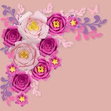 Peony Paper Flower 12 Pc Combo Pink Fuchsia Peony Paper Flower Backdrop Wall Decor Set 3d Premade