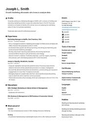 Resume Templates Com Free Cv Templates You Can Edit And Download Easily