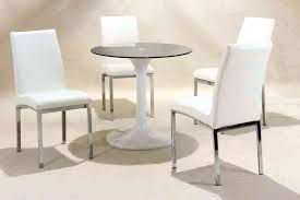 small round glass dining table and 4 chairs small round white high gloss glass dining table and 4 chairs set rovigo small glass chrome dining room table and