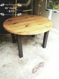 brand new solid wood handcrafted 4 top 46 round table furniture in raleigh nc offerup