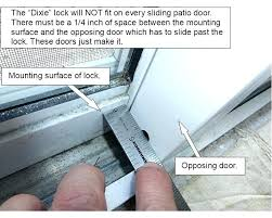 fearsome sliding glass door locks repair seal rare how to fix