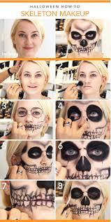 diy makeup skeleton