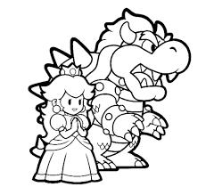 Bowser And Princess Peach Mario Coloring Pages Bowser Coloring