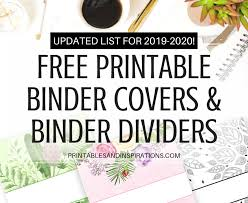 Printable Binder Inserts Free Printable Binder Dividers And Binder Covers Floral