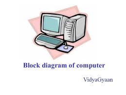 picture of a computer block diagram of computer and its various components vidyagyaan
