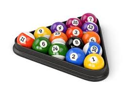 pool game balls. Plain Balls Group Of Colorful Glossy Pool Game Balls With Numbers And Plastic Triangle  Isolated On White Background To Pool Game Balls I