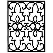 wrought iron rectangular wall art