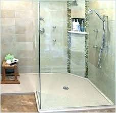how to install tile shower floor pan over installation steps a bathrooms mosaic in niche astonish