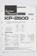 pioneer kp pioneer kp 2600 original service manual guide wiring diagram o71
