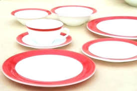 full size of red glass dish sets square and black dinnerware pink set 3 layer dinner
