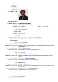 Europass Curriculum Vitae Personal information First name(s) / Surname(s)  ...