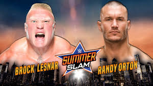 wwe summerslam 2016 brock lesnar vs randy orton full match hd you