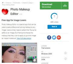 it is accessible for free that makes it the best however you have to face annoying advers in terms of makeup editing it works really well as