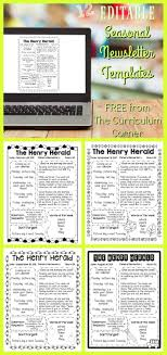 Newsletters Templates Editable Seasonal Newsletter Templates The Curriculum