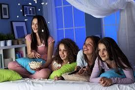 Teen sleep over more