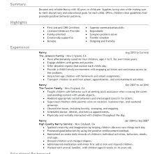 Nanny Resume Examples Enchanting Nanny Resume Example Nanny Resume Example Nanny Resume Templates