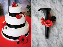 Red Black White Wedding Favorite Of 2011 Calie Rose