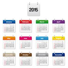 Simple 2015 Calendar Simple Colored 2015 Calendar Vector Graphic Welovesolo