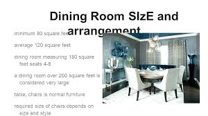 average dining room size average living room size square feet 6 dining room size and arrangement
