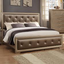Crown Mark Fontaine Queen Upholstered Bed - Item Number: B1700-Q-FB+