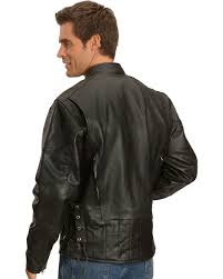 interstate leather touring motorcycle leather jacket black hi res