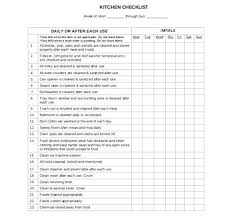 Commercial Kitchen Cleaning Schedule Template Luxury Restaurant ...