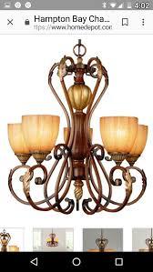 brand new hampton bay 5 light chandelier household in allen park mi offerup