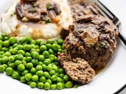 Low in carbs and topped with a mushroom, onion gravy. Salisbury Steak With Mushroom Gravy Budget Bytes