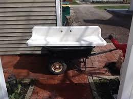 youngstown vintage porcelain kitchen sink farmhouse double drain