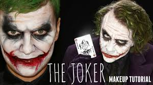 the joker easy makeup and face painting tutorial