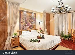 Medieval Bedroom Medieval Style Bedroom With Canopy Bed On Wide Angle View Stock