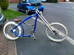 switchblade chopper bicycle custom modified cruiser elegant rims