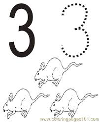 Small Picture Number 3 Coloring Pages 7 Com Coloring Page Free Numbers