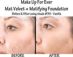 make up for ever mat velvet matifying foundation charming mufe