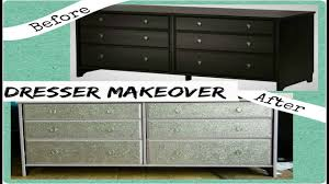 Image Silver Glitter Youtube Diy Dresser Makeover With Glitter ikea Hack