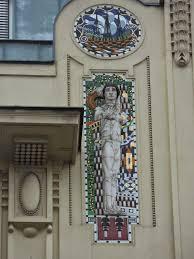 Wien-Innere Stadt, Graben 16 (Willhem Schallinger und Pietro Palumbo  1909-11, Mosaikreliefs von Leopold Forstner)