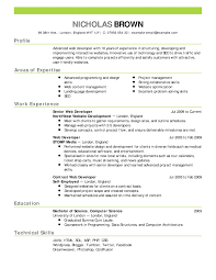 Examples Of Resumes Simple Resume Templates Intended For Sample