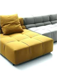 yellow leather furniture sectional modular sofa contemporary light yel