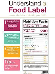 Nutrition Charts For Restaurants Amazon Com New Food Label Poster Nutrition Facts Label